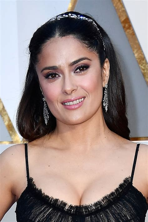 salma hayek long center part long center part lookbook
