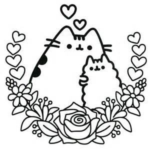 pusheen coloring pages 25 best ideas about pusheen the cat book on