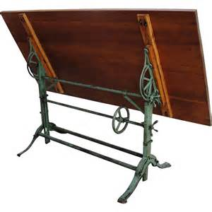Drafting Table Antique Antique Industrial Drafting Table Cast Iron Base From Breadandbutter On Ruby