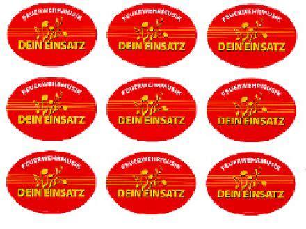 Feuerwehr Aufkleber Transparent by Produkte