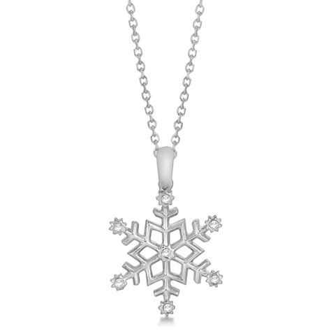 snowflake pendant necklace for 14k white