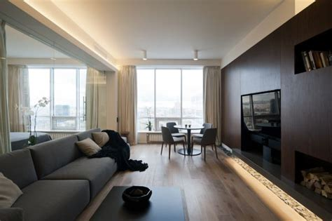 ultra modern apartment an ultra modern moscow apartment with a glass wall between