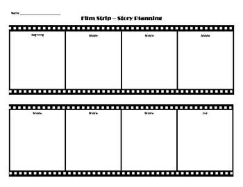 this is a film strip page for planning out the beginning