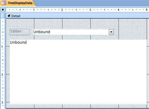 enable layout view access vba vba exle microsoft access loop read data to listbox