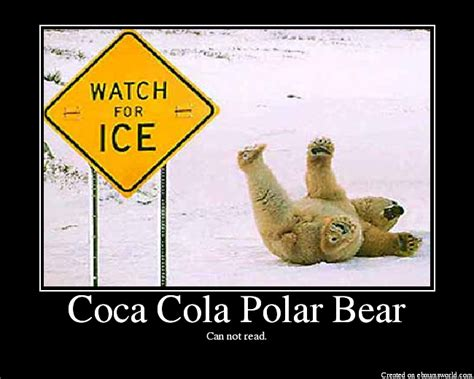 Polar Bear Coke Meme - coca cola polar bear picture ebaum s world