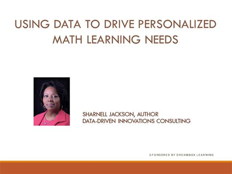 using data to improve student learning in school districts books using data to drive personalized math learning needs