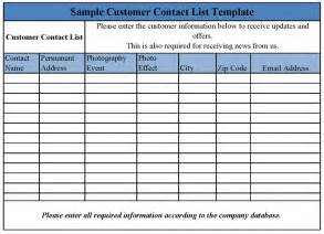 Customer List Template by Customer Email List Template Go Search For Tips