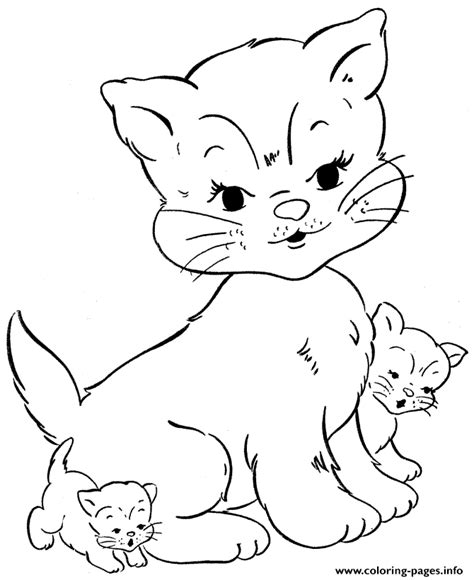 coloring pages my little kitty little kitty and mother animal s9a0c coloring pages printable