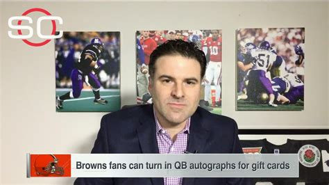 Espn Gift Card - company offers browns fans gift card for qb autograph espn video