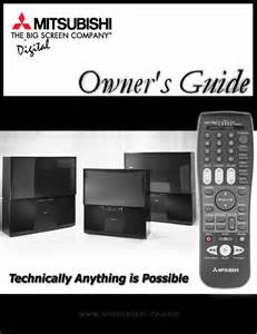 Mitsubishi Tv Owners Manual Mitsubishi Electronics Crt Television Ws 65908 User Guide