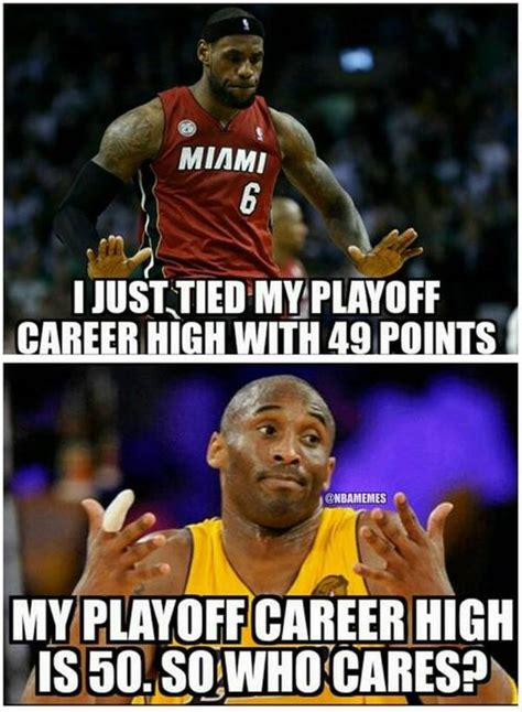 Kobe Lebron Meme - kobe bryant vs lebron james nbaplayoffscareerhigh
