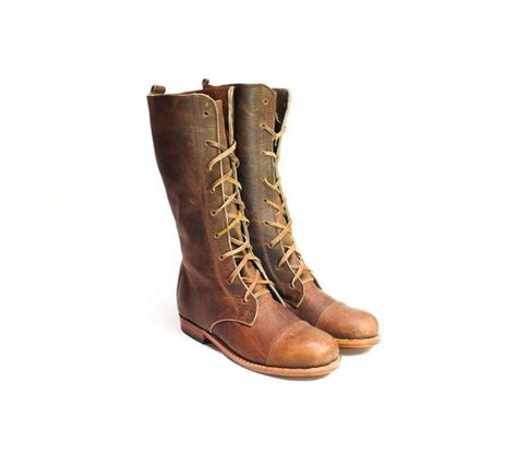Handmade Womens Boots - s handmade boots in conker leather
