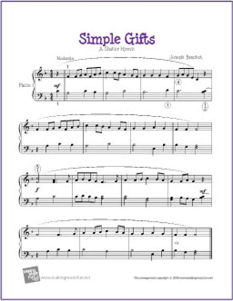 simple gift simple gifts free sheet for easy piano flickr