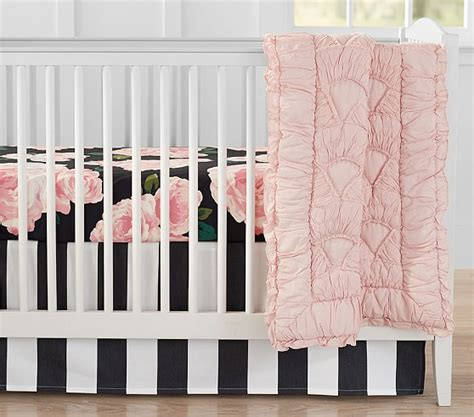 The Emily Meritt Bed Of Roses Baby Bedding Sets Pottery Barn Baby Crib Bedding