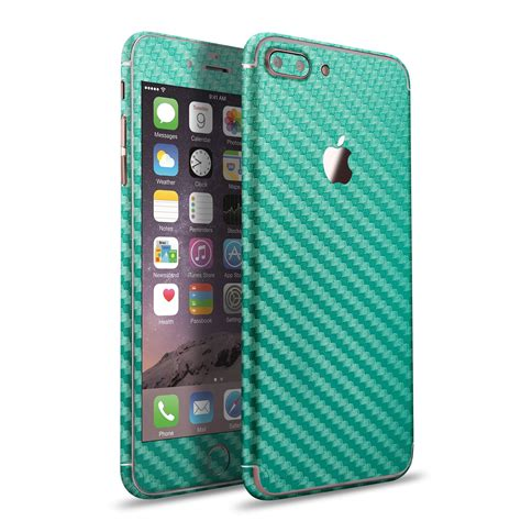 Folie Carbon Iphone 7 by Apple Iphone 7 7 Plus Carbon Skin Sticker Green Vapiao