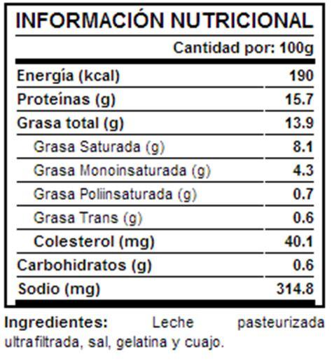 q proteinas tiene el queso el queso informaci 243 n nutricional