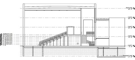 auditorium plan and section auditorium section drawing