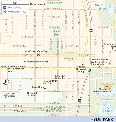 hyde park chicago map map of hyde park hyde park fodor s travel guides
