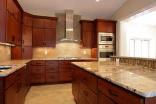 Kitchen Cabinets And Granite by Granite Kitchen Countertops Cherry Cabinets Best Home