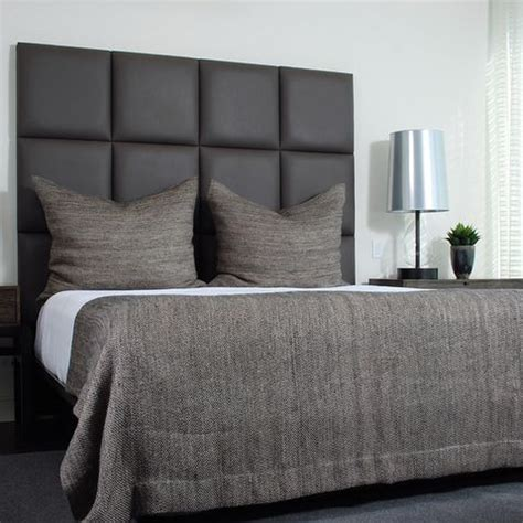 Gray Fabric Headboard Like The Simple Gray Fabric Headboard And Side Rails J Urben Inspiration Photos
