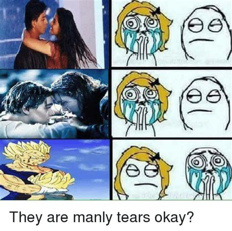 Manly Memes - e e a they are manly tears okay meme on sizzle