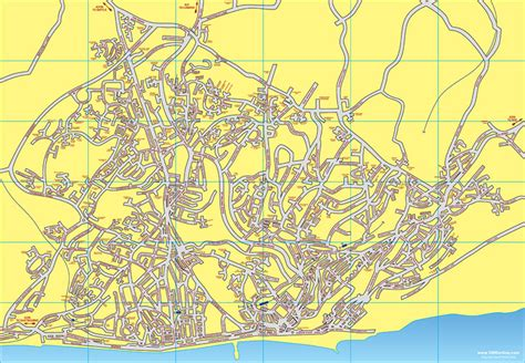 printable map eastbourne map of hastings st leonards in east sussex hastings uk map