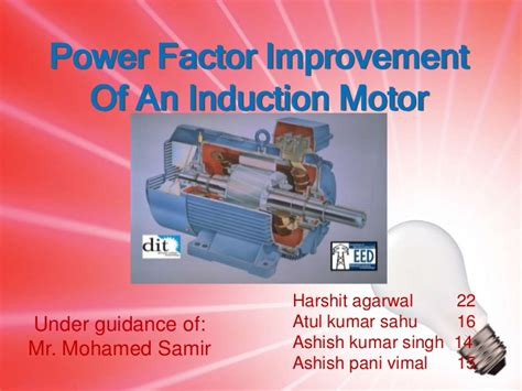 power factor improvement of an induction motor