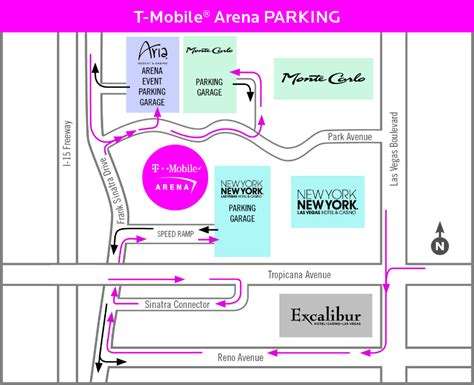 Best Home Garages by T Mobile Arena Parking Fee In Las Vegas Map Amp Valet