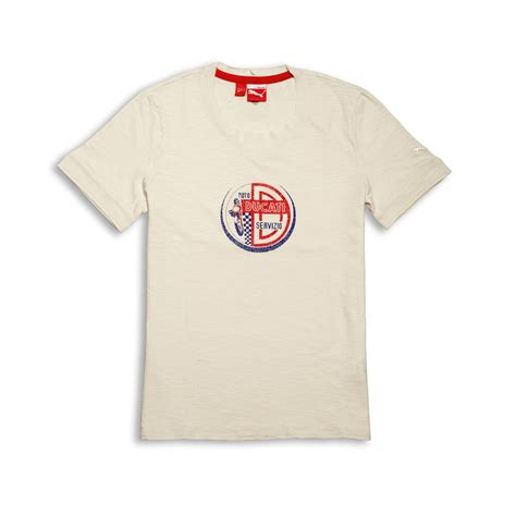 White T Shirt 2013 by Ducati Vintage Aw 180 12 Sleeve T Shirt White New 2013 Ebay