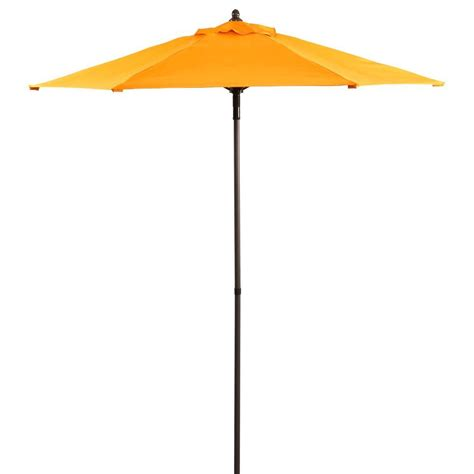 Orange Patio Umbrella 7 5 Ft Patio Umbrella In Orange Uts00203e Orange The Home Depot