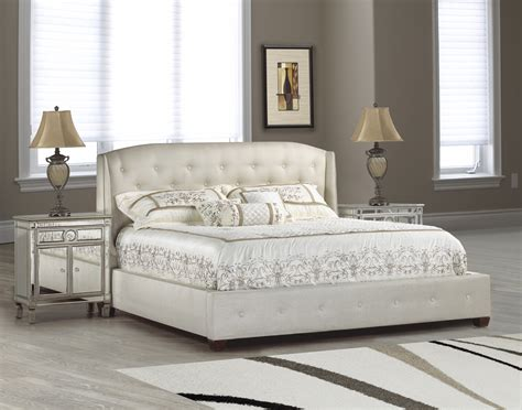 tufted headboard bedroom set furniture charming bed in tufted white by aico furniture