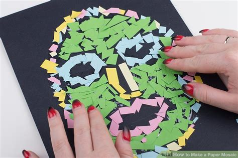 How To Make A Paper Mosaic - how to make a paper mosaic with pictures wikihow