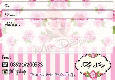 Kertas Alamat Label Alamat Pengiriman Label Paket inspirasi address sticker untuk shop mu mrsdesignpurwokerto