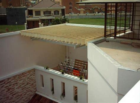 desain atap belakang rumah atap kanopi rumah buka tutup desain kanopi belakang