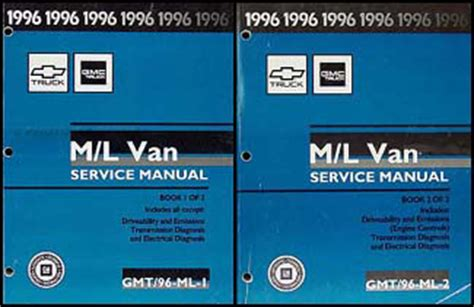auto repair manual online 1996 gmc safari engine control 1996 chevy astro and gmc safari van shop manual set 96 chevrolet repair service ebay