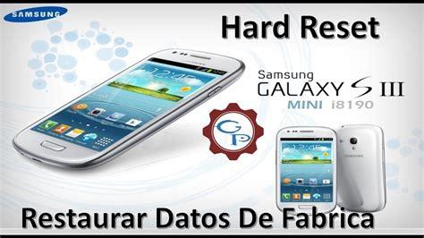 reset hard samsung galaxy s3 mini hard reset samsung galaxy s3 mini restaurar datos de