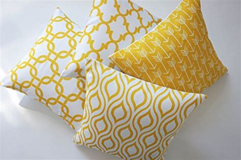 yellow pattern cushion covers howarmer canvas cotton throw pillows cover for couch set