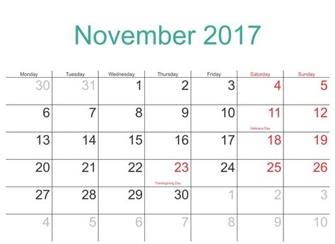 printable schedule november 2017 november 2017 printable calendar templates free