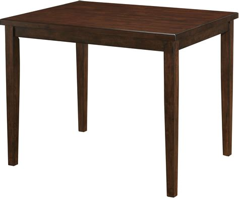 marten brown cherry square counter height dining table