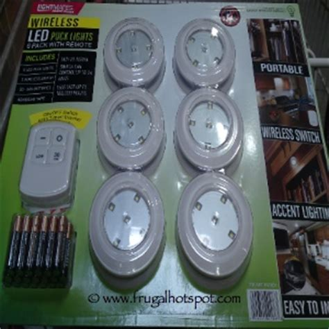 costco led lights with remote costco sale lightmates wireless led puck lights 6 pack