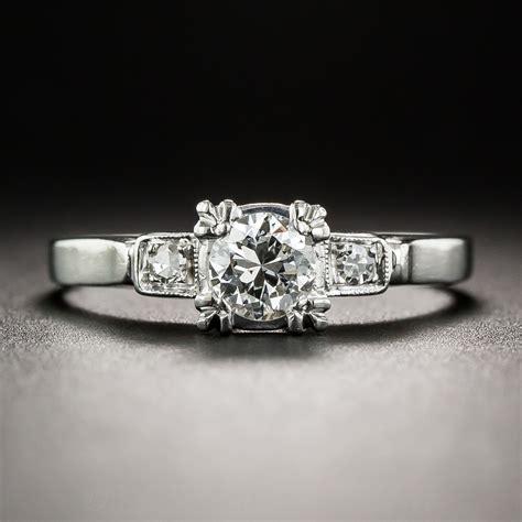 vintage 35 carat platinum engagement ring