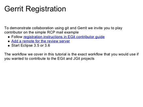 git gerrit tutorial eclipsecon 2010 tutorial understanding git at eclipse