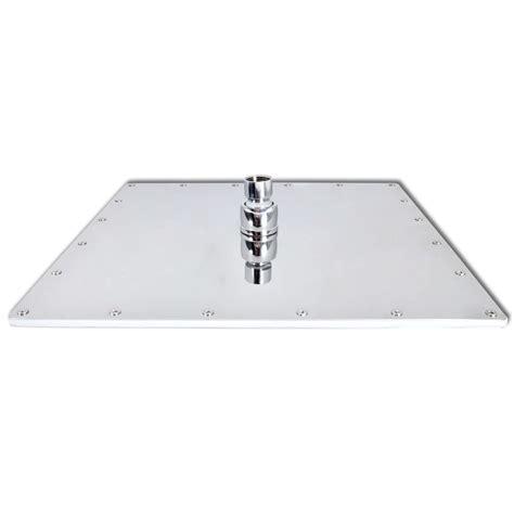 soffione doccia quadrato soffione doccia in acciaio inox 40 cm quadrato vidaxl it