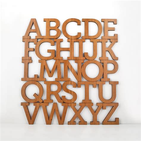 typography on wood wood alphabet letter modern typography by graphicspaceswood
