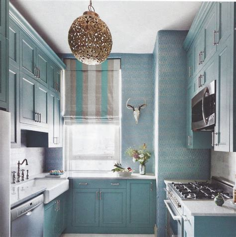 opaque turquoise kitchen interiors color