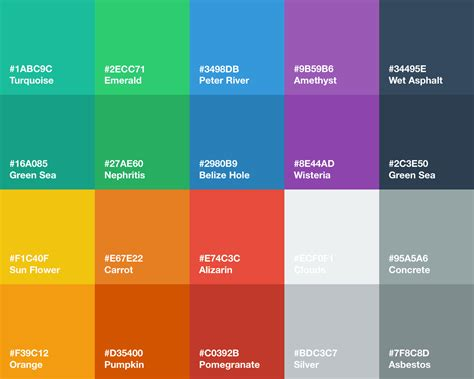 flat color flat ui color palette for sketch