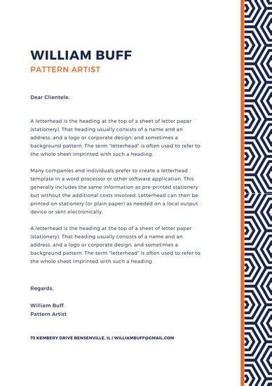 Letterhead Letter Free Printable Letterhead Letter Stationery Template