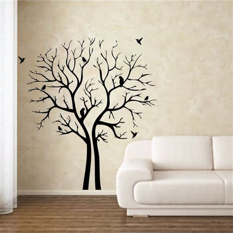 wall designs home decor wall black printable tree