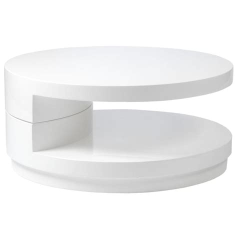 Sybil Round Coffee Table White   Coffee Tables