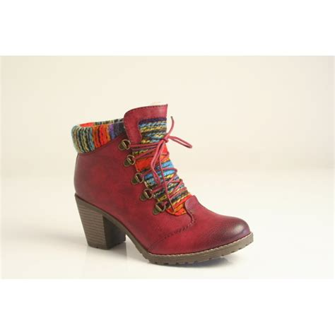 rieker rieker ankle boot with multi coloured